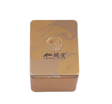 Wholesale new design metal tin box for tea packaging