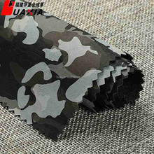 PU coated camouflage garment leather