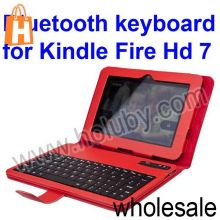 "Wireless Bluetooth Keyboard+Stand Magnetic PU Leather Case Cover for Amazon Kindle Fire HD 7"" Tablet PC"