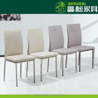 2014 factory direct sale hot selling pu and chromed dining chairs