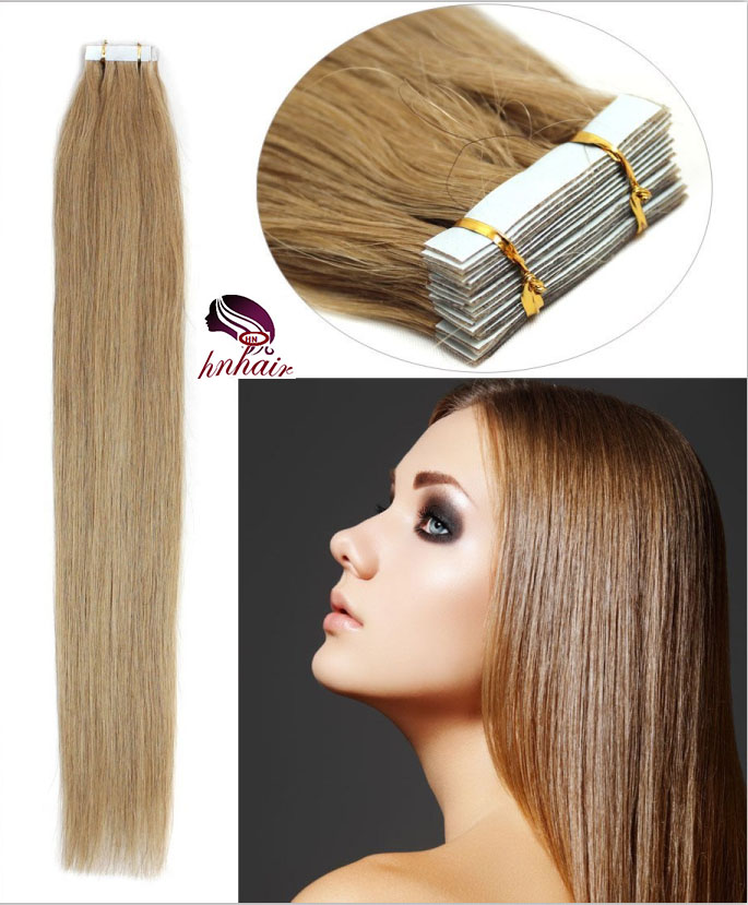 Hot new product for 2017 cheap wholesale tape in hair extensions #16 dark honey brown