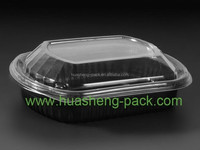 1000ml plastic pp ps pet disposable divided food tray with lid