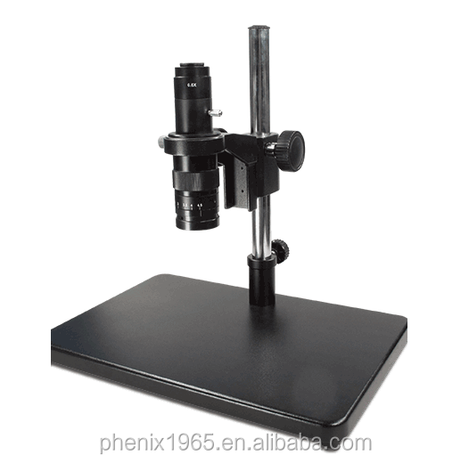 Monocular continuous stereo zoom microscope/video microscope with camera