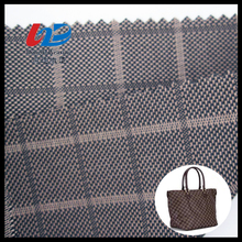 100%Polyester Yarn Dyed Plaid Oxford Fabric With PU/PVC Coating For Bags/Luggages/Shoes/Tent Using