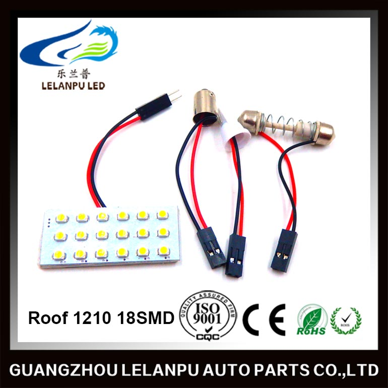 12v auto led reading lamp roof light 1210 18SMD 8w dome lamp panel lamp