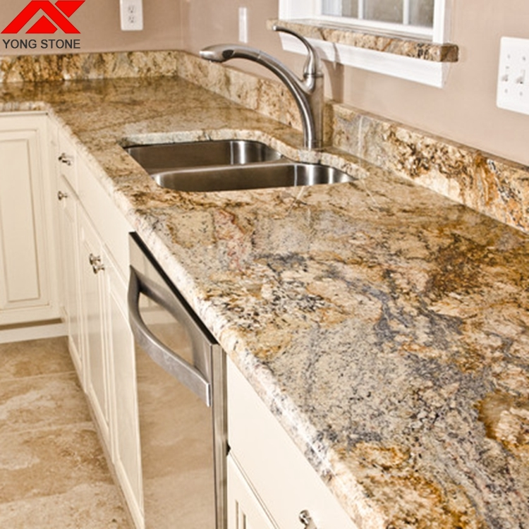 Indian Yellow River Granite Kitchen Countertops Lowes For Sale   Buy Yellow  River Granite Countertop,Kitchen Countertops Lowes For Sale,Countertops ...