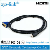 2015 New Premium High Speed hdmi to vga cable for HDTV,set top box,3D passive Projector