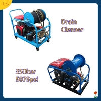 350bar portable commerical industrial high pressure power jet washers