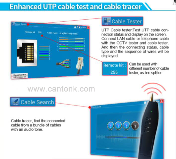 High quality cctv accessories,cctv tester monitor,cctv camera tester IP Camera