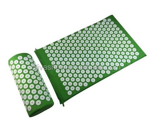 Yoga Needle Mat Massage Cushion with Acupuncture Neck Pillow Body Pain Relief Therapy Spike Cushion +Pillow