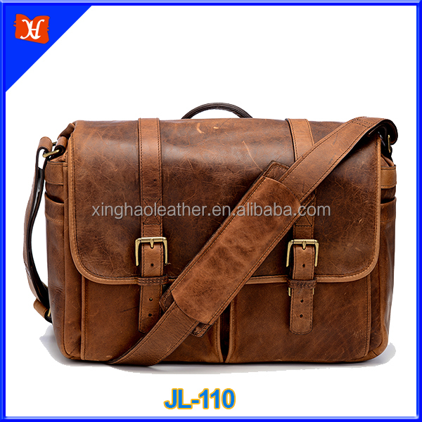 Wholesale Outdoor Best Price Waterproof genuine leather 2016 New Slr Dslr Camera Bag For photographer