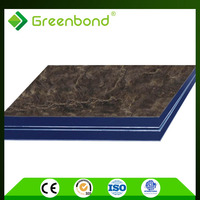 Greenbond marble design insulation aluminium wall cladding