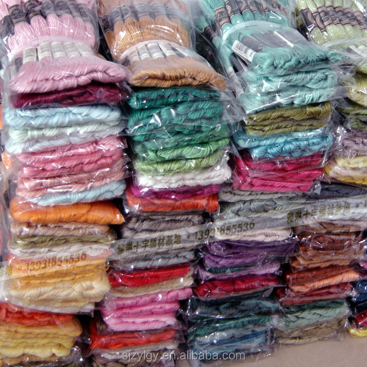 Wholesale High Quality 100% Polyester Embroidery Thread DMC Thread ...