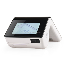 All in one touch screen handheld pos system with 2d Barcode scanner