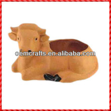 Lovely custom terracotta garden small cow planter