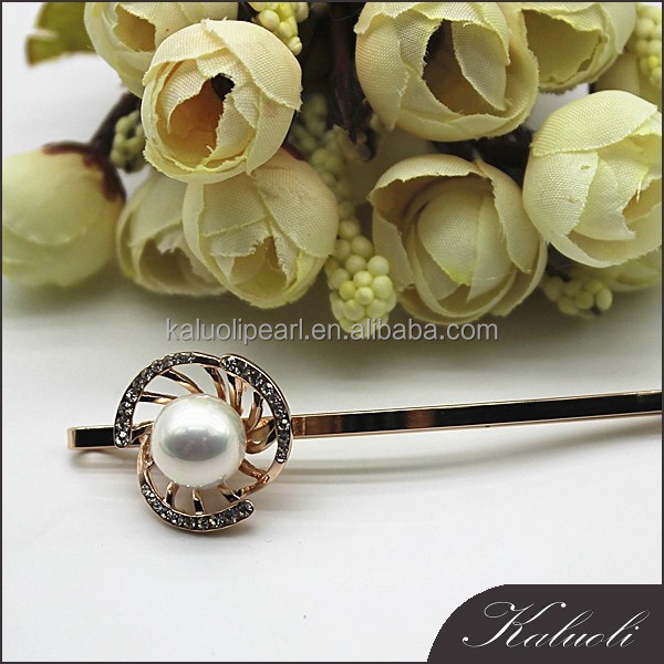 Wholesale zircon shell pearl girls decorative types of hair pins