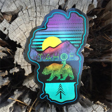 Cheap Custom Die Cut Shaped Rainbow Color Pvc Waterproof Vinyl Sticker Labels Printing Made In China
