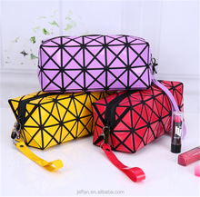 Various color foldable oblong Shaped Travel makeup Bag for cosmetic