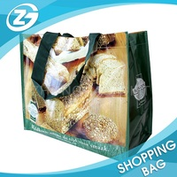 Eco Durable PP Woven Reusable Grocery Shopping Tote Bag