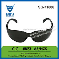 Industrial ce en166f safety sun glasses for gas cutting