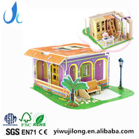 3d jigsaw puzzle adult children dream villa wooden creative DIY house model toys