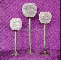 customized discount cheap tall glass candlesticks for weddings
