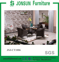 PE rattan material Modern Design For Outdoor Garden Furniture and dining set