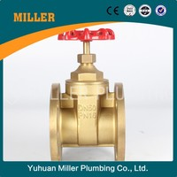 Yuhuan supply DN100 Brass flange ansi standard gate valve for water