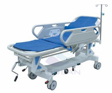 AG-HS002 Emergency medical mechanical adjustable transfer abs handrail aid first hospital stretcher prices