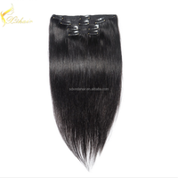 Silky Straight Wave Style and Clip-In Hair Extension Type hair extensions Seamless Clip In Malaysian Hair Extensions