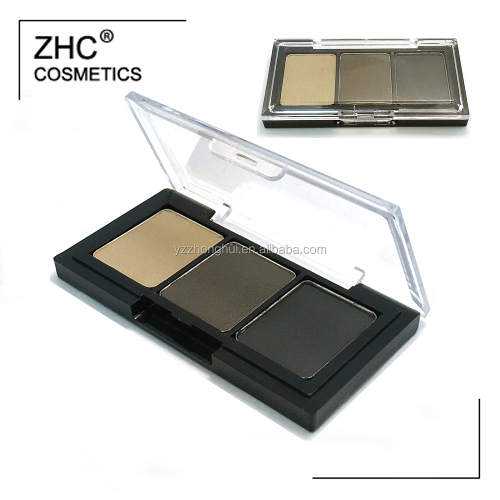 CC30421 3 colors eyebrow powder palette with your own logo