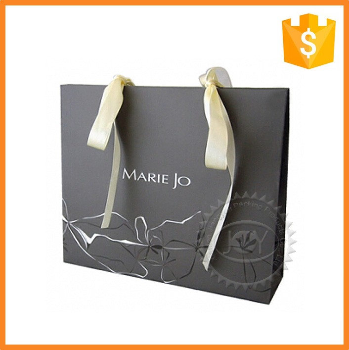 Printing Practical Ribbon Handle Shopping Paper Bags with Logo