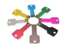 Color Metal U Disk 2G to 32G Customized Logo Key USB Memory Stick