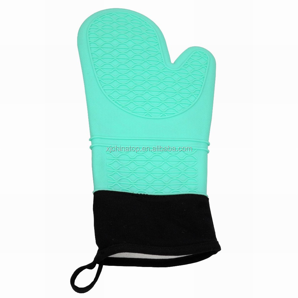 "JK18088PA Kitchen Silicone Oven Mitt Glove with cotton inner lining, 14.5""/37cm Long"