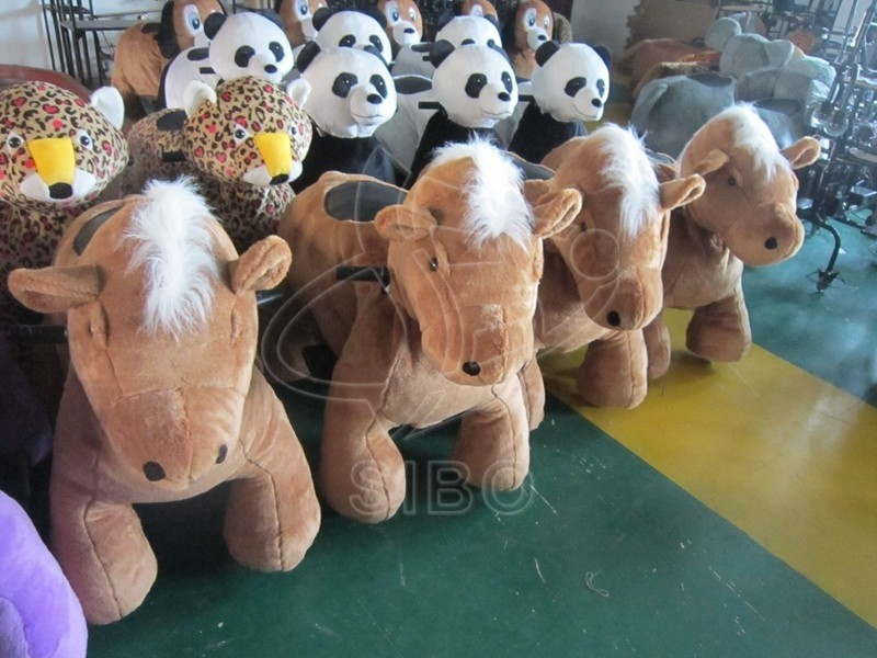 GM59 ride on electric aniaml coin operated horse ride amusement park ride manufacturer