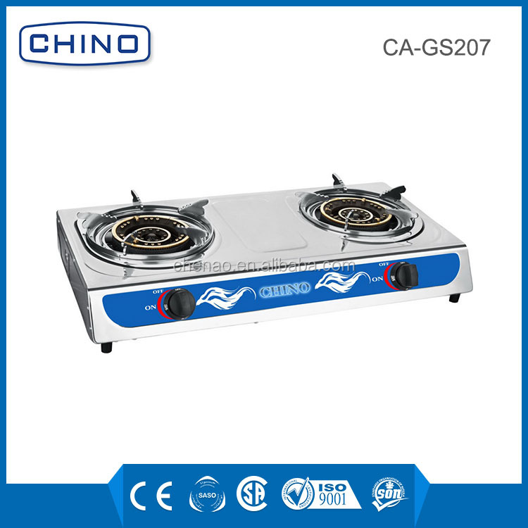 universal stainless steel indoor table gas cooker CA-GS206 hotel electrical appliances