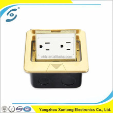 copper double multifunction power socket floor electric socket outlet