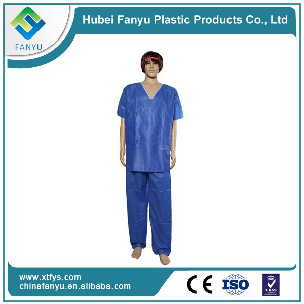 disposable PP chinese collar scrub suit designs