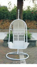 iron weight white wicker Swings hanging chairs