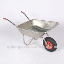 High quality 4 CU.FT garden galvanised chassis and tray wheelbarrow