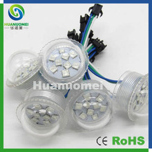 35mm 9pcs led modules,DC12V RGB color changing led pixel point light clear/milky cover