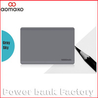 AK-04 Private model 10000 mah universal portable power bank double output external batery charger 10000 manual for power bank