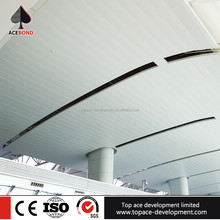 fireproof indoor aluminum strip ceiling panels for office building decoration