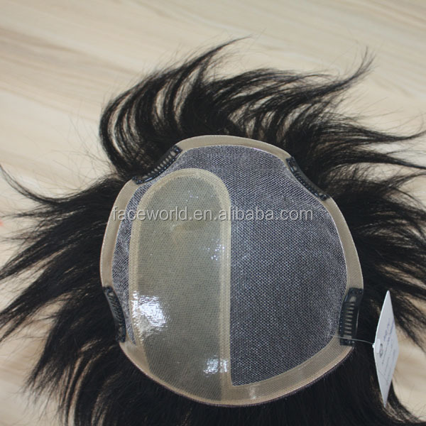 Factory wholesale human hair toupee top quality toupee for black women