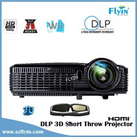 Full HD 1080P Multimedia DLP Ultra Short Throw Projector windows display 3D Holographic projector