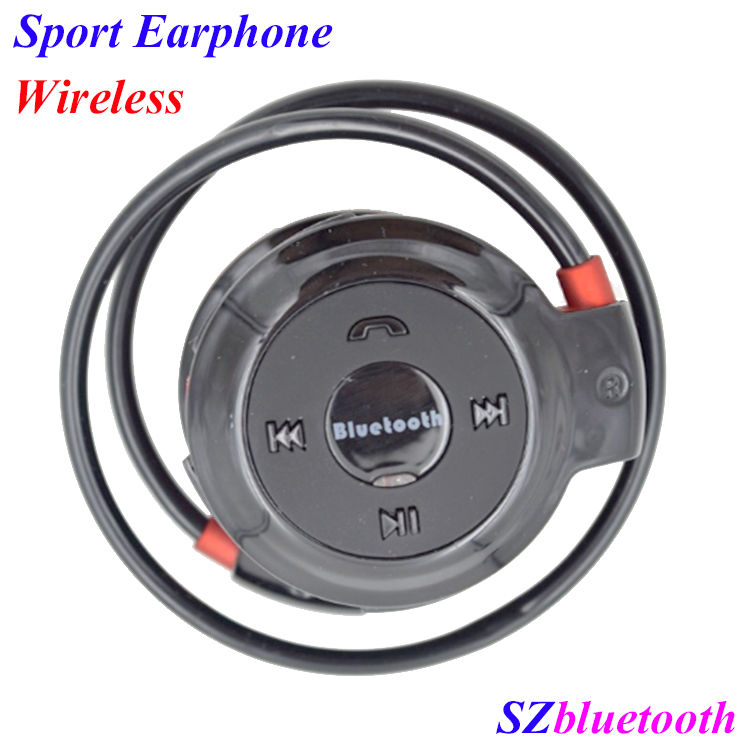 Hot selling Round shape neckband sport wireless bluetooth stereo earphone with FM radio MP3 player TF slot
