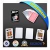 Colorful custom 100% plastic poker cards for promotion