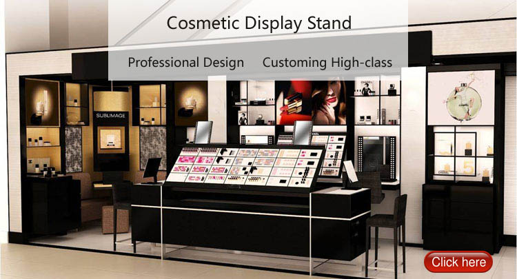 Custom high-class acrylic cosmetic retail display