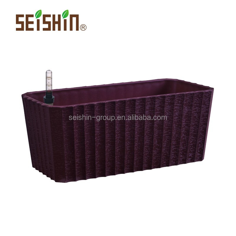 PP Plastic Type Self-watering Garden Decoration Planter Box