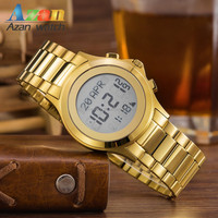 alfajr 2016 New design Best Price For Chinese Wholesale Watch Azan wrist watch for gold colour